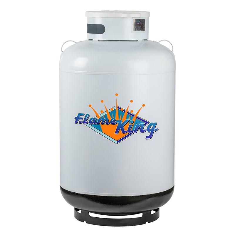 420lb (120 gal) ASME Cylinder w/float gauge & relief valve